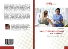 Couverture de La prévention des risques psychosociaux.