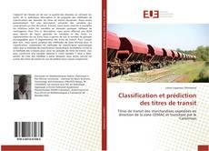 Couverture de Classification et prédiction des titres de transit