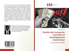 Portada del libro de Gestion des ressources naturelles et développement économique