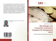Portada del libro de Maraîchage, une innovation culturale et marqueur du changement social