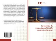 Le contrôle de proportionnalité et la garantie autonome kitap kapağı