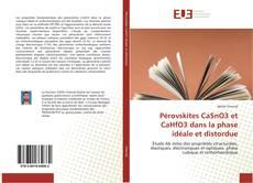 Portada del libro de Pérovskites CaSnO3 et CaHfO3 dans la phase idéale et distordue