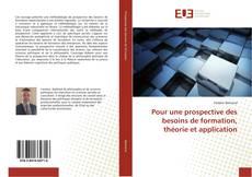 Capa do livro de Pour une prospective des besoins de formation, théorie et application