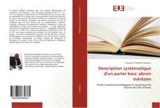 Bookcover of Description systématique d'un parler kwa: abron mêrêzon