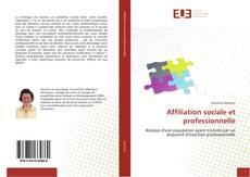 Affiliation sociale et professionnelle kitap kapağı