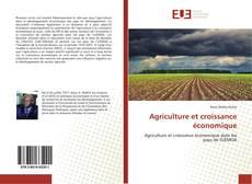 Portada del libro de Agriculture et croissance économique