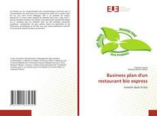 Обложка Business plan d'un restaurant bio express