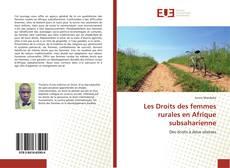 Les Droits des femmes rurales en Afrique subsaharienne kitap kapağı