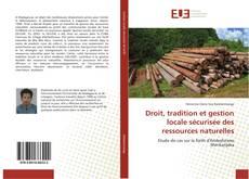 Bookcover of Droit, tradition et gestion locale sécurisée des ressources naturelles