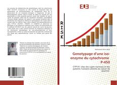 Bookcover of Genotypage d'une iso-enzyme du cytochrome P-450