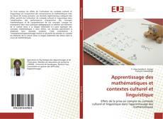 Обложка Apprentissage des mathématiques et contextes culturel et linguistique