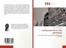 Portada del libro de L'urbanisme de la ville générique