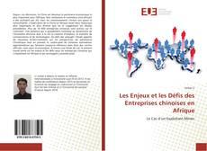 Les Enjeux et les Défis des Entreprises chinoises en Afrique kitap kapağı