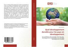 Обложка Quel développement durable pour les pays en développement