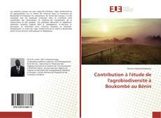 Couverture de Contribution à l'étude de l'agrobiodiversité à Boukombé au Bénin