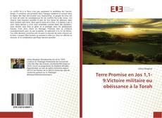 Bookcover of Terre Promise en Jos 1,1-9:Victoire militaire ou obéissance à la Torah