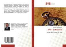 Droit et Histoire kitap kapağı