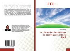 Bookcover of La reinsertion des mineurs en conflit avec la loi en Haiti