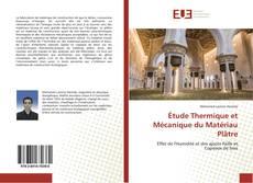 Étude Thermique et Mécanique du Matériau Plâtre kitap kapağı