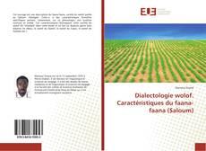 Обложка Dialectologie wolof. Caractéristiques du faana-faana (Saloum)