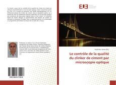 Le contrôle de la qualité du clinker de ciment par microscopie optique kitap kapağı