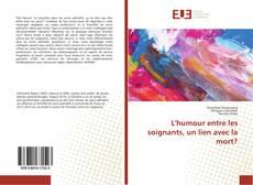 Bookcover of L'humour entre les soignants, un lien avec la mort?