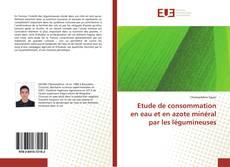 Portada del libro de Etude de consommation en eau et en azote minéral par les légumineuses