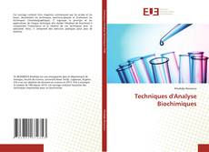 Bookcover of Techniques d'Analyse Biochimiques