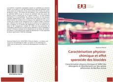 Couverture de Caractérisation physico-chimique et effet sporocide des biocides