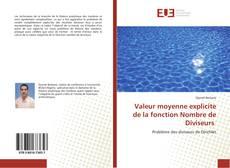 Capa do livro de Valeur moyenne explicite de la fonction Nombre de Diviseurs