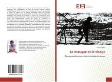Capa do livro de Le masque et le visage