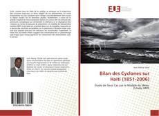 Copertina di Bilan des Cyclones sur Haïti (1851-2006)