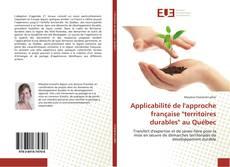 """Bookcover of Applicabilité de l'approche française """"territoires durables"""" au Québec"""