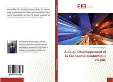 Bookcover of Aide au Developpement et la Croissance economique en RDC