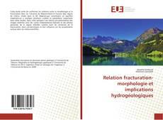 Buchcover von Relation fracturation-morphologie et implications hydrogéologiques