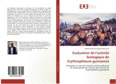Capa do livro de Evaluation de l'activité biologique de Erythrophleum guineense