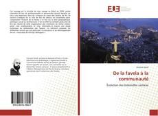 Bookcover of De la favela à la communauté