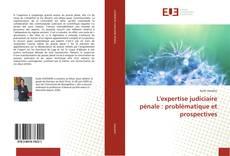 Buchcover von L'expertise judiciaire pénale : problématique et prospectives