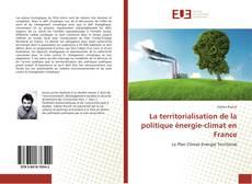 La territorialisation de la politique énergie-climat en France的封面