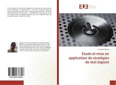 Copertina di Etude et mise en application de stratégies de test logiciel