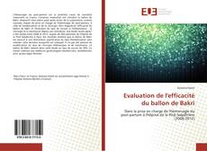 Bookcover of Evaluation de l'efficacité du ballon de Bakri