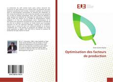 Optimisation des facteurs de production kitap kapağı