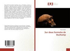 Capa do livro de Sur deux formules de Duchamp
