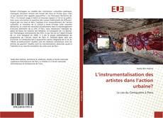 Borítókép a  L'instrumentalisation des artistes dans l'action urbaine? - hoz