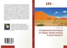 Capa do livro de Changements climatiques en steppe. Quelle ampleur et quel impacte?!