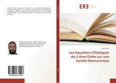 Copertina di Les Equations Elliptiques du 4 ème Ordre sur une Variété Riemanniene