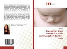 Portada del libro de Proposition d'une intervention sur la communication des tout-petits