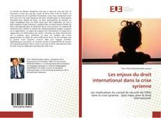 Capa do livro de Les enjeux du droit international dans la crise syrienne