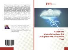 Variations intrasaisonnières des précipitations au Burkina Faso kitap kapağı