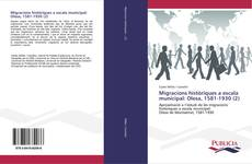 Обложка Migracions històriques a escala municipal: Olesa, 1581-1930 (2)